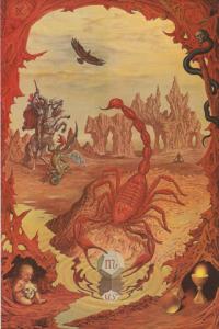 Sternzeichenkarte Skorpion