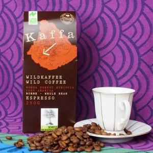 Bio Wildkaffee Espresso ganze Bohne