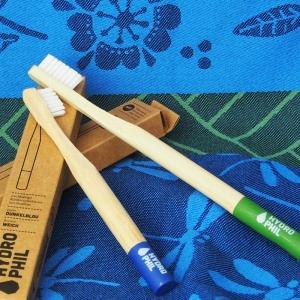 Nachhaltige Zahnbürste aus Bambus für Kinder